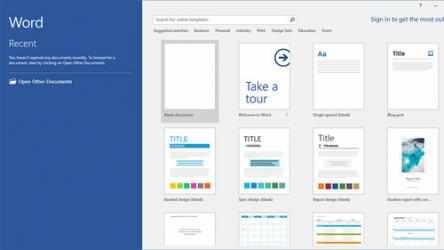 Captura de Pantalla 1 de Microsoft Word para windows