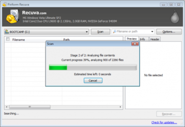 Screenshot 1 de Recuva para windows