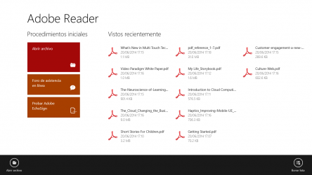 Screenshot 1 de Adobe Reader Touch para windows