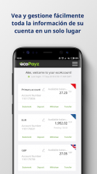 Captura 2 de ecoPayz - Servicios de pagos seguros para android