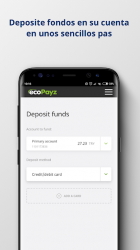 Captura 3 de ecoPayz - Servicios de pagos seguros para android