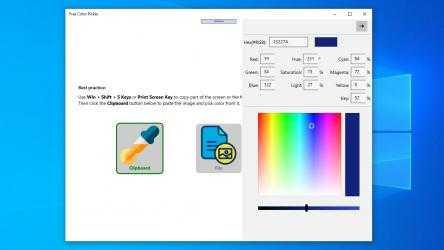 Captura 4 de Free Color Picker: color picker from screen, html color picker, hex color picker para windows