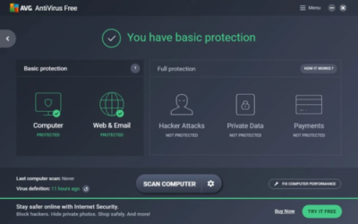 Captura de Pantalla 1 de AVG Antivirus Free para windows