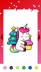 Captura 4 de Unicorn Art Pixel - Color By Number para android