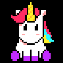 Captura de Pantalla 1 de Unicorn Art Pixel - Color By Number para android