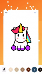 Screenshot 2 de Unicorn Art Pixel - Color By Number para android