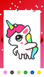 Captura de Pantalla 5 de Unicorn Art Pixel - Color By Number para android