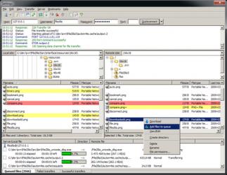 Captura de Pantalla 1 de FileZilla para windows