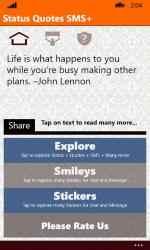 Captura de Pantalla 1 de Status Quotes SMS+ para windows