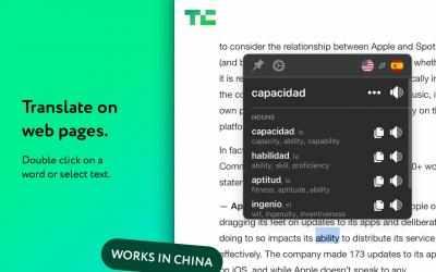 Captura de Pantalla 1 de Mate Translate – traductor, diccionario, translator para windows