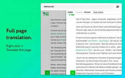 Captura de Pantalla 2 de Mate Translate – traductor, diccionario, translator para windows