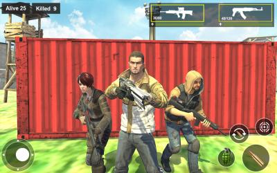Captura de Pantalla 7 de Survival Squad Free Battlegrounds Fire 3D para android