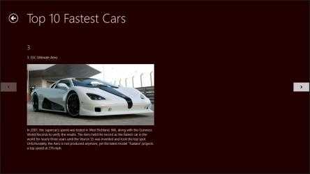 Captura 3 de 10 Fastest Cars para windows