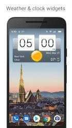 Screenshot 2 de Sense Flip Clock & Weather (Ad-free) para android
