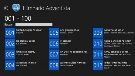 Captura de Pantalla 3 de Himnario Adventista W8 para windows