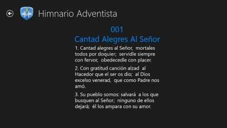 Captura 4 de Himnario Adventista W8 para windows