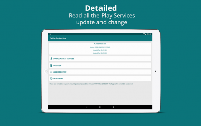 Captura 6 de Info of Play Store & fix Play Services 2020 Update para android