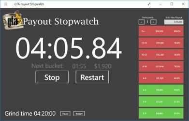 Captura de Pantalla 1 de Payout Stopwatch for GTA para windows
