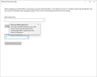 Captura 1 de MIDI SysEx Transfer Utility para windows