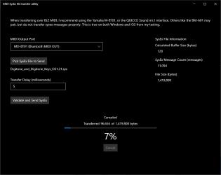 Captura 3 de MIDI SysEx Transfer Utility para windows