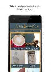Captura de Pantalla 2 de Jesus Words Meditation para android