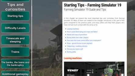 Screenshot 3 de Farming Simulator 19 Guide App para windows
