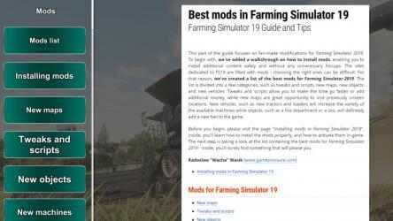 Screenshot 2 de Farming Simulator 19 Guide App para windows