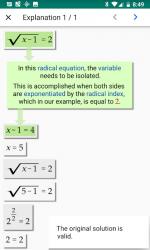 Captura 8 de Algebrator - soluciona tareas matemáticas a pasos para android