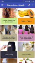 Captura de Pantalla 2 de Tratamientos para el cabello para android
