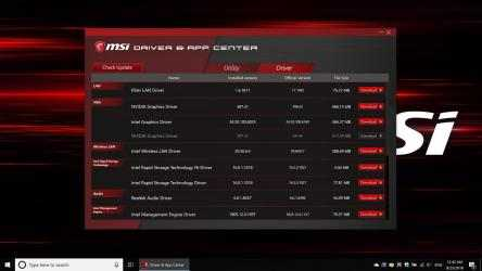 Captura de Pantalla 2 de MSI Driver & App Center para windows