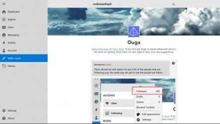 Captura de Pantalla 7 de Ouga - Tumblr App para windows