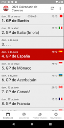 Captura 4 de Calendario de Carreras 2021 (Sin anuncios) para android