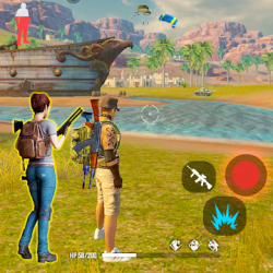 Captura de Pantalla 1 de 3D Free Fire Battleground Epic Survival Squad para android