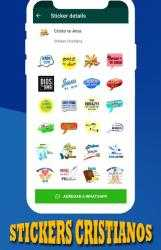 Screenshot 8 de Stickers Cristianos para WhatsAPP para android