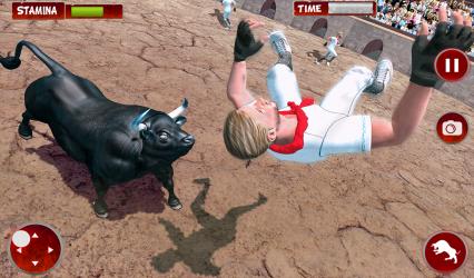 Captura de Pantalla 7 de Simulador De Ataque De Ciudad Toro Enojado para android