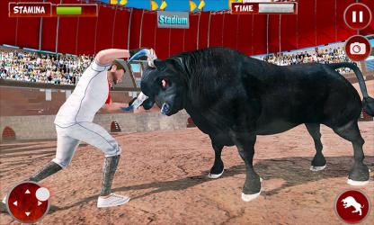 Captura 2 de Simulador De Ataque De Ciudad Toro Enojado para android