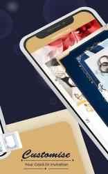 Captura de Pantalla 11 de Creador de tarjetas de compromiso con foto - 2021 para android