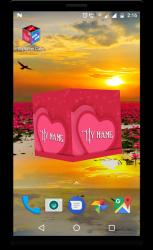 Screenshot 5 de 3D My Name Cube Live Wallpaper para android