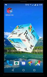 Captura 6 de 3D My Name Cube Live Wallpaper para android
