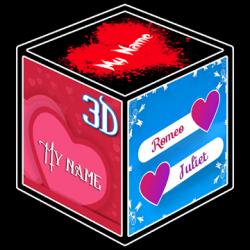 Captura 1 de 3D My Name Cube Live Wallpaper para android