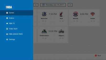 Captura de Pantalla 1 de NBA app para windows