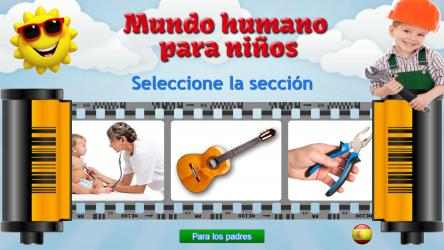 Captura de Pantalla 1 de Mundo humano para niños, juegos educativos para windows