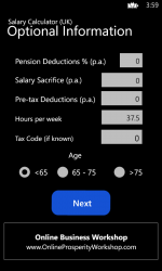 Screenshot 2 de Income Calculator (UK) para windows