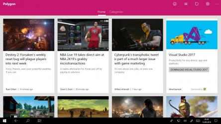 Captura de Pantalla 1 de Gaming News from Polygon - Games, Movies, Reviews para windows