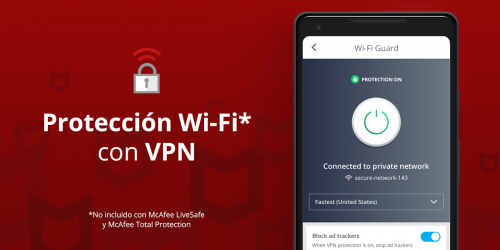 Captura 4 de Mobile Security: Wi-Fi segura con VPN y antirrobo para android