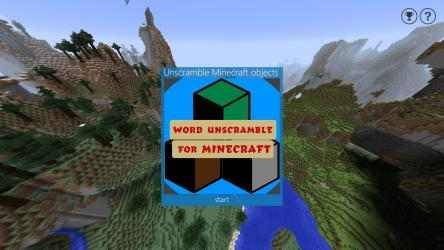 Captura 1 de Word Unscramble for Minecraft para windows