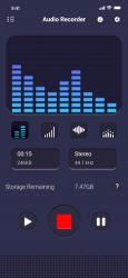 Captura 9 de Grabador de voz: editor de aud para iphone