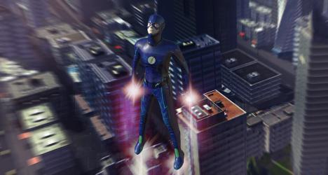 Captura 7 de juego de lucha de héroes voladores para android