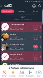 Captura de Pantalla 3 de Call Recorder - Grabar llamadas - callX para android