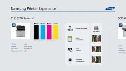 Captura de Pantalla 1 de Samsung Printer Experience para windows